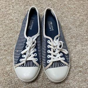 Lacoste Sport Ziane Navy Striped Sneakers